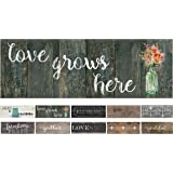 "20""x55"" Oversized Cushioned Anti-Fatigue Kitchen Runner Mat Love Grows Here"