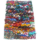 "Chardinhome Rainbow Shag Rug, 20"" x 30"", Multi-Colored"