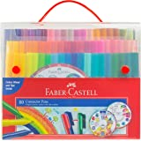 Faber-Castell Vibrant Connector Pen Colour Markers, Assorted – Pack of 80, (11-155581)