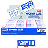 Pentel Hi-Polymer Block Eraser, Small, Box of 48 Erasers (ZEH-05)