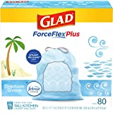 Glad® ForceFlexPlus Tall Kitchen Drawstring Trash Bags - 13 Gallon Trash Bag, Febreze Beachside Breeze - 80 Count (Package Ma