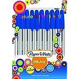 Papermate AP012981 Ink Joy 100 Ballpoint Pen, Blue, Pack Of 10