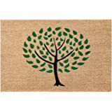 Natural Coir Non Slip Tree Floor Entrance Door Mat Indoor/Outdoor (24W X 36L)