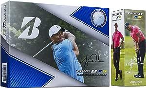 ブリヂストン(BRIDGESTONE) ゴルフボール TOUR B TOUR B XS Tiger Woods Edition 12球入り メンズ 8SWXTW ホワイト 高速アイオノマーインナーカバー 高耐久ソフトウレタンカバー