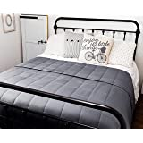 HomeSmart Products Weighted Throw Blanket 5kg 150x200cm - 400 Thread Count Ultra Soft Cotton - Twin Size Bed Comforter