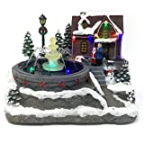Allgala Crafted Polyresin Christmas House Collectable Décor Building House Figurine with USB and Battery Dual Power Source-Ho