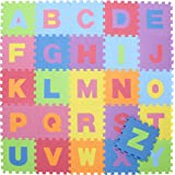 不二貿易 フロアマット ジョイントマット 32cm アルファベット 26枚 キッズ EVA 10411