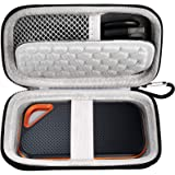 Hard Case Compatible with SanDisk 500GB/ 1TB/ 2TB Extreme PRO Portable External SSD. Carrying Travel Holder for USB Cables. (