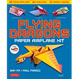 Flying Dragons Paper Airplane Kit: 48 Paper Airplanes, 64 Page Book, 12 Original Designs, Youtube Video Tutorials: 48 Paper A