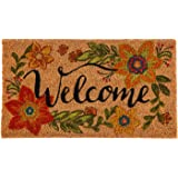 Evergreen Flag 2RM396 Colorful Floral Welcome Coir Mat, Multi