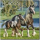 """Horses Mini Wall Calendar 2021, 7"""" x 7"""""""