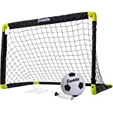 "Franklin Sports Set Mini Soccer Goal Kids Backyard/Indoor Net Ball Pump Portable Folding Youth 36"" x 24"" Sporting goods"
