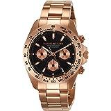 [ダニエル・ミューラー]DANIEL MULLER 腕時計 クロノグラフ メンズウォッチ DM-2002BK ピンクゴールド×ブラック メンズ