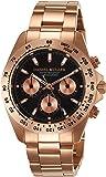 [ダニエル・ミューラー]DANIEL MULLER 腕時計 クロノグラフ メンズウォッチ DM-2002BK ピンクゴー…