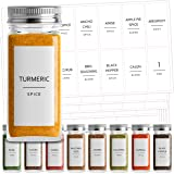 Talented Kitchen 140 Minimalist Spice Labels Set. Black Print on White Matte Backing, Water Resistant. Spice Jars Vinyl Organ