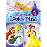 Disney Princess Cinderella, Ariel, Belle, and More! - Lots and Lots of Look And Find Activity Book - PI Kids