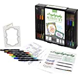 Crayola Crayoligraphy Crayola Beginner Hand Lettering Kit with Tutorials, Easier Than Calligraphy, 45 Pieces, Multicolor, 45