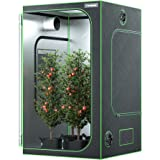 VIVOSUN 48x48x80 Mylar Hydroponic Grow Tent with Observation Window and Floor Tray for Indoor Plant Growing 4' x4'