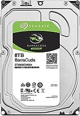 Seagate 内蔵ハードディスク 3.5インチ 8TB PCユーザー向け BarraCuda (SATA 6Gb/s / 5400rpm / 2年保証) 正規代理店品 ST8000DM004