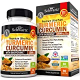Turmeric Curcumin with BioPerine 1500mg. Highest Potency Available. Premium Joint & Healthy Inflammatory Support with 95% Sta