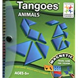 SmartGames SGT121 Tangoes Animals Magnetic Travel Puzzle Game Blue