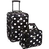 Rockland 2 Pc Luggage Set, Black Dot (Black) - F102-MULPINKDOT