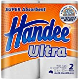 Handee Ultra Kitchen Towel Roll, White, Pack of 6