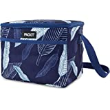 PackIt PKT-EL-NAL Freezable Everyday Lunch Box, Navy Leaves