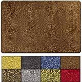 """Kaluns Indoor Doormat Super Absorbent Welcome Mud mat 28""""x18"""" PVC Backing-Non Slip Rug for Front Door Inside Floor Dirt Trapp"""