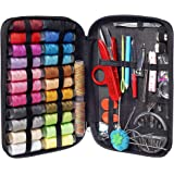 MYFOXI Sewing Kit for Adults, Kids, Home, Travel, Sew Repair, 101pc Deluxe Mini Sewing Supplies Set with Thread and Needle, S