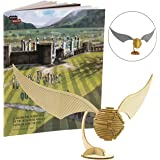 Harry Potter Golden Snitch Book and 3D Wood Model Figure Kit - Build, Paint and Collect Your Own Wooden Toy Model - Kids and