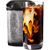 HyperChiller Iced New Version Reusable for Iced Coffee/Tea, Wine Spirits, Alcohol, Juice, 12.5 OZ Black