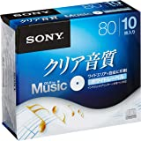 ソニー CD-R オーディオ 10枚パック 10CRM80HPWS