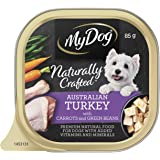 MY DOG Naturally Crafted Wet Dog Food Turkey 85g Tray, 14 Pack, Adult, Small/Medium