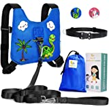 HappyVk Safety Harness for Kids-Anti Lost Walking Toddler Baby Leash-with Free Drawstring Storage Bag and Hands Free Belt for