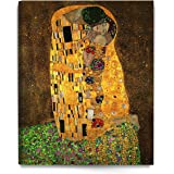 (24x30, Stretched Canvas) - DecorArts The Kiss by Gustav Klimt, Giclee Printed on Canvas Stretched Gallery Wrapped Ready to H
