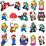 CY2SIDE 20PCS Mario Shoe Charm for Kids, Shoe Decoration Charm for Crocs, Bracelet Wristband Charms for Toddlers, Clog Decor