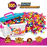 Snap Pop Beads, 500+Pcs Jewelry Making Kit for Kids 3,4,5,6,7,8,9,10 Year Old Girls - Necklaces, Bracelets & Rings Art and Cr
