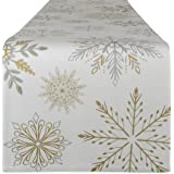 DII CAMZ10703 100% Cotton, Machine Washable, Printed Kitchen Table Runner for Dinner Parties, Christmas and Holidays and Than