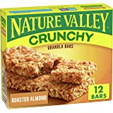 Nature Valley Crunchy Granola Bars, Roasted Almond, 6 Pouches, 894 oz (Pack of 12)