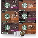 スターバックス ブラックコーヒー Kカップ キューリグ バラエティーパック 10カウント x 6パック (合計60カップ) 6種類 (フランスロースト、カフェ・ヴェローナ、スマトラ、パイクプレイスロースト、ハウスブレンド、ブレックファーストブレンド)
