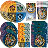 Unique Party Bundle Featuring Harry Potter | Luncheon & Beverage Napkins, Dinner & Dessert Plates, Table Cover, Cups | Great