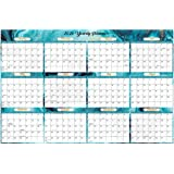 """2021 Yearly Wall Calendar - 2021 Wall Calendar with Julian Date, From January to December 2021, Thick Paper, Vertical, 34.8\"""""""