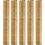 S&S MEZUZAH CASE Holder (shidell) Plastic מזוזה Metal Painted Wood Brown White Striped Rubber Cork 5.3/4 INCH for 12 cm Scrol