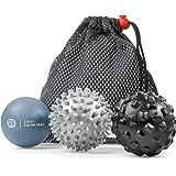 Massage Balls Deep Tissue: Lacrosse Ball Massage+ Spiky Ball+ Foam Ball Roller -Trigger Point Therapy, Myofascial Release, an