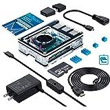 RaspberryPi4ケース/MicroSDHCカード32G NOOBSシステムプリインストール/カードリーダ/5.1V3AType-C スイッチ付電源 PSE取得/MicroHDMI-to-HDMIケーブルライン/アダプター/冷却ファン/