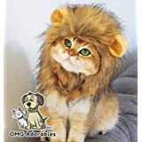 OMG Adorables - Lion Mane Wig for Dog and Cat Costume Pet Adjustable Washable Comfortable Fancy Lion Hair Dog Clothes Dress f