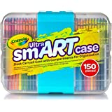 Crayola Ultra Smart Case, 150 Piece Set, Includes Crayons, Pencils, Paper, Markers and The Best Storage Case to Keep Art Tool