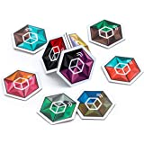 Crystal Cube NFC Tags ⬡ HIGH Capacity NTAG 215 CHIP ⬡ 9 Stunning Dual Color Themes for Better Recognition ⬡ Our Tags Work On