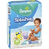 Swim Diapers Size 4 (20-33 Pound) - Pampers Splashers Disposable Swim Pants, Medium (36 Count)